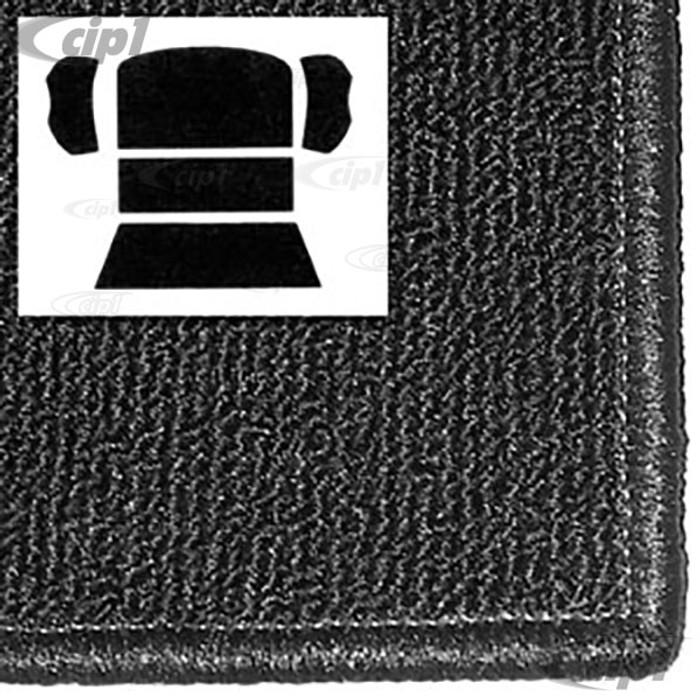 T34-R1103-301 - 73-77 BEETLE SEDAN REAR WELL 5 PC KIT - BLACK