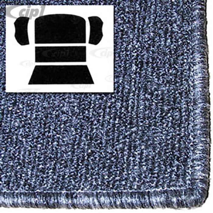 T34-R1103-407 - 73-77 BEETLE SEDAN REAR WELL 5 PC KIT - SALT&PEPPER GREY