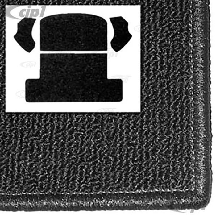 T34-R1104-301 - 54-77 BAJA BEETLE (BACK SEAT REMOVED) REAR WELL KIT 3PC - BLACK