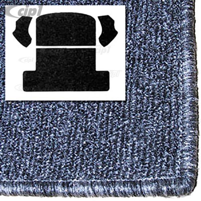 T34-R1104-407 - 54-77 BAJA BEETLE (BACK SEAT REMOVED) REAR WELL KIT 3PC - SALT&PEPPER GREY
