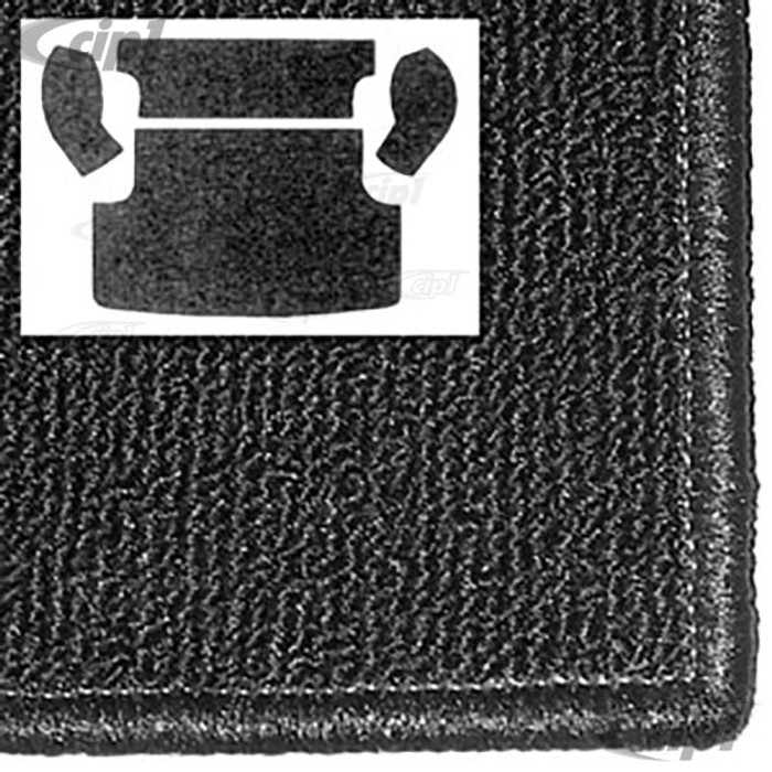 T34-R3134-301 - REAR CARGO AREA CARPET KIT - 4 PIECE - BLACK - 62-74 TYPE-3 SQUAREBACK