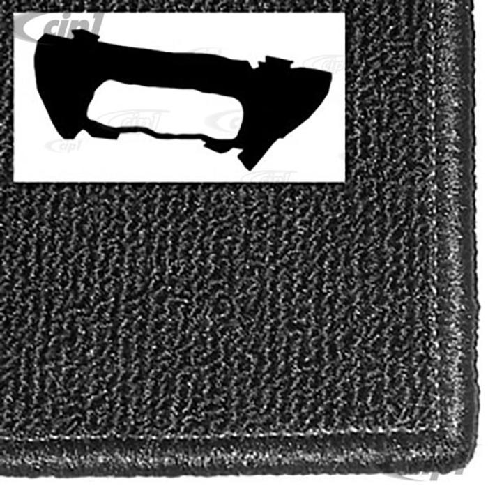 T34-T1151-301 - 56-60 BEETLE FRONT TRUNK CARPET KIT - BLACK