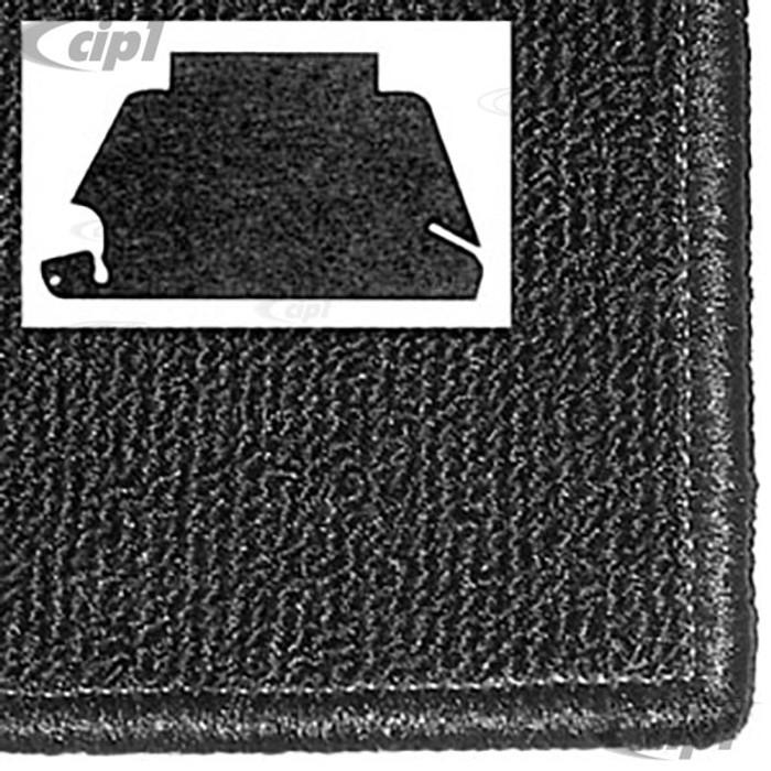 T34-T1153-301 - 68-78 STD BEETLE FRONT TRUNK CARPET KIT - BLACK