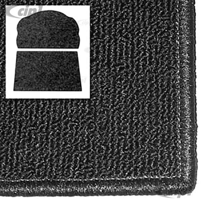 T34-T1254-301 - 71-72 SUPER BEETLE FRONT TRUNK CARPET KIT - BLACK