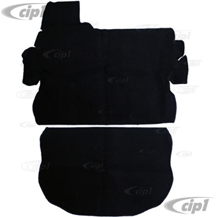 T34-T1255-301 - 73-79 SUPER BEETLE FRONT TRUNK CARPET KIT - BLACK