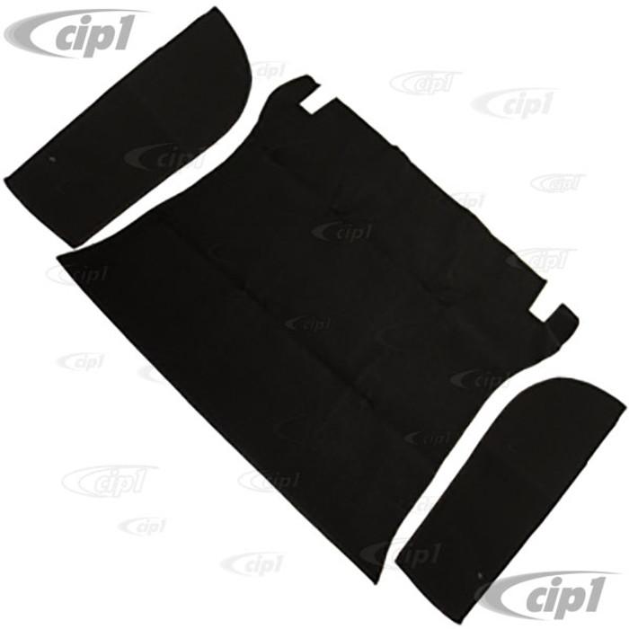 T34-T3057-301 - 61-70 TYPE 3 FRONT TRUNK CARPET KIT - BLACK