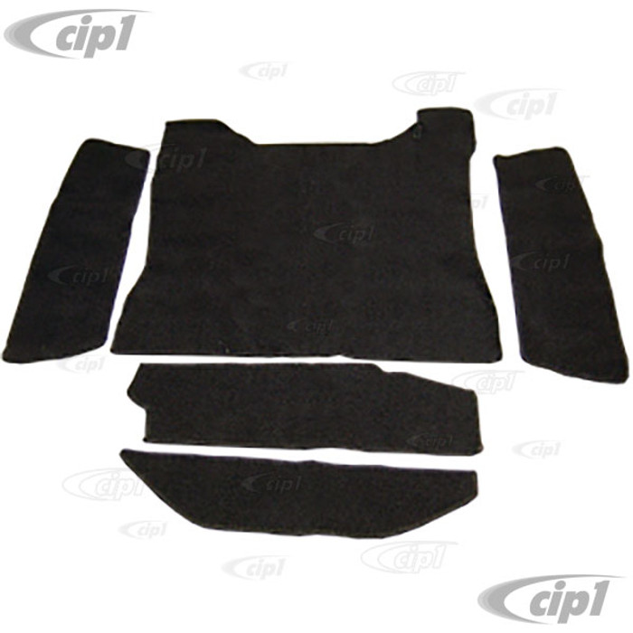 T34-T3058-301 - 71-74 TYPE 3 FRONT TRUNK CARPET KIT - BLACK