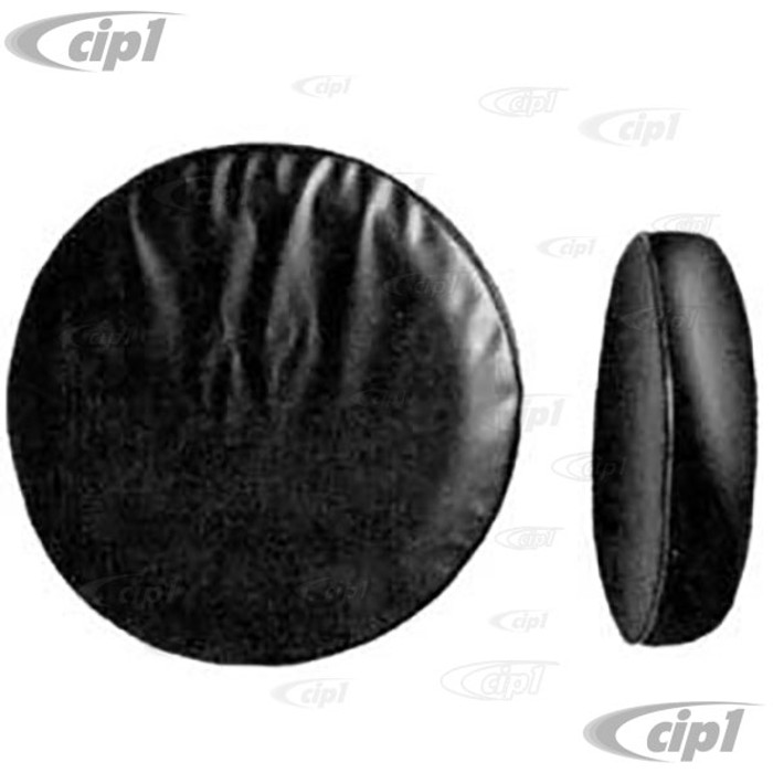 T34-V1150-11 - SPARE TIRE COVER BLACK VINYL - ALL 14-15 INCH VW WHEELS - BEETLE / GHIA / T-3 - BUS / THING - SOLD EACH