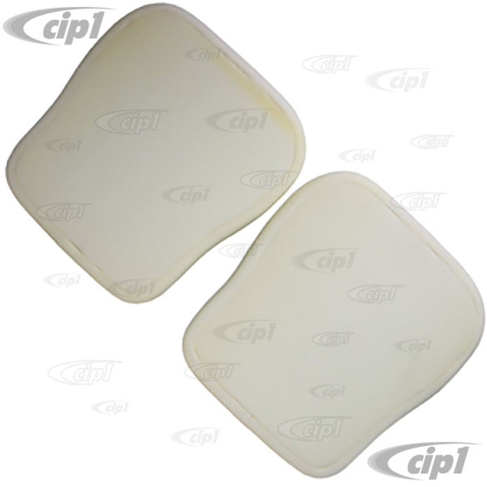 T43-1000 - FRONT BOTTOM SEAT PADS ONLY - 68-72 BEETLE - 61-74 / TYPE-3 - ONE PAIR