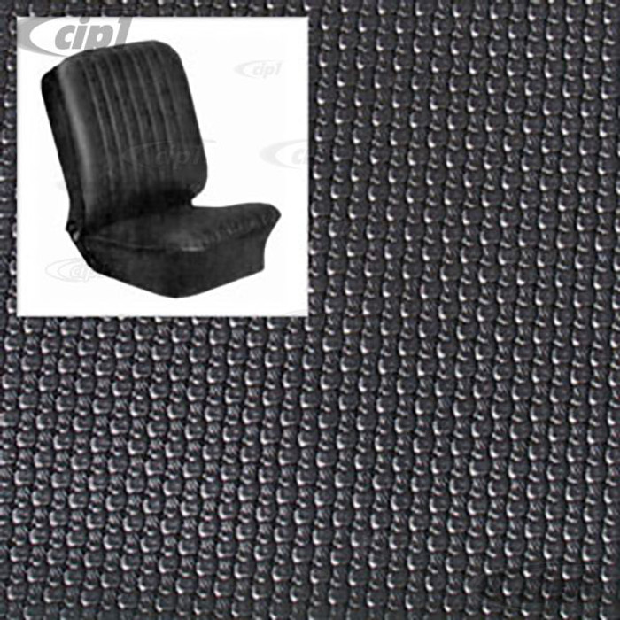 T43-2114-01 - BUS 68-73 FRONT BUCKET SEAT COVER SET - BLACK BASKET WEAVE (PLEASE READ SPECIAL NOTES BELOW - BEFORE ORDERING) SOLD SET