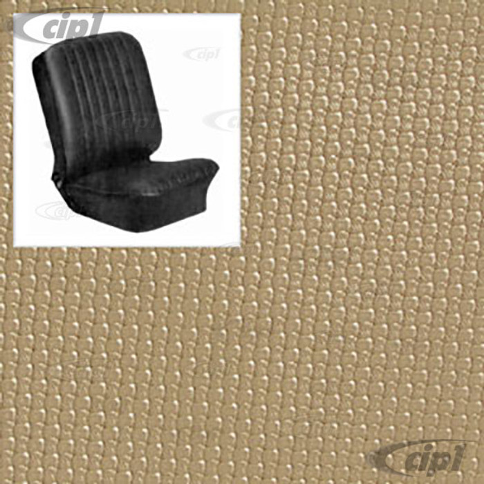 T43-2114-05 - BUS 68-73 FRONT BUCKET SEAT COVER SET - OFF-WHITE BASKET WEAVE (PLEASE READ SPECIAL NOTES BELOW - BEFORE ORDERING) SOLD SET