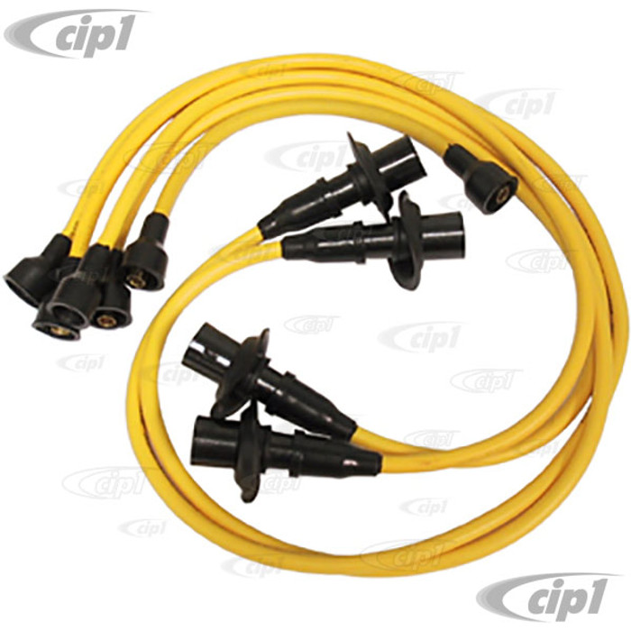 ACC-C10-5860 - YELLOW IGNITION WIRE SET - 12-1600CC ENGINES - BEETLE 46-79 / GHIA 56-74 / BUS 50-71