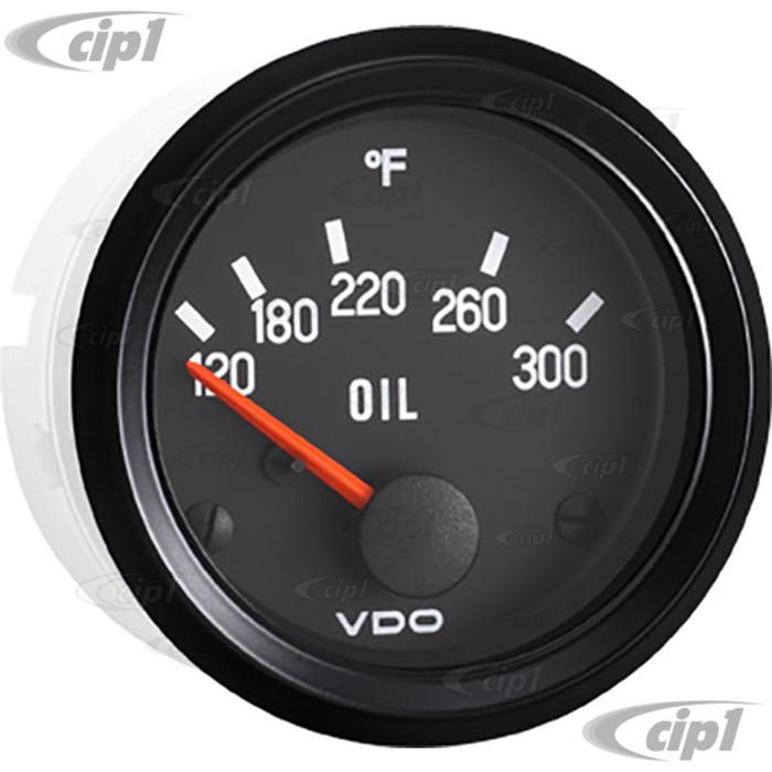 VDO-310-012 - 310012 - BLACK FACE COCKPIT OIL TEMP GAUGE-300F - 2-1/16 (52MM) IN.