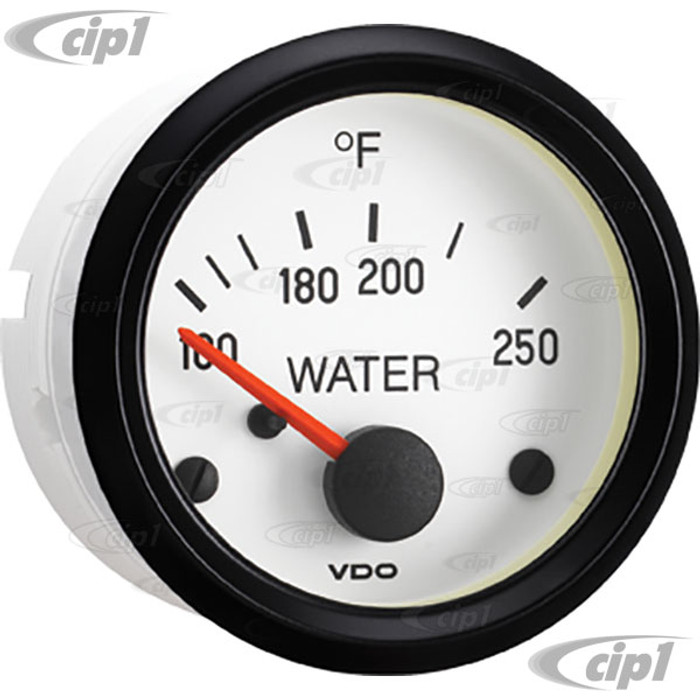 VDO-310-239 - 310239 - WHITE FACE COCKPIT WATER TEMP GAUGE-250F - 2-1/16 (52MM) IN.