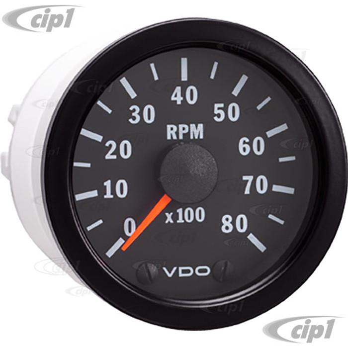 VDO-333-159 - 333159 - BLACK VISION TACHOMETER-8000 RPM-2-1/16 (52MM)
