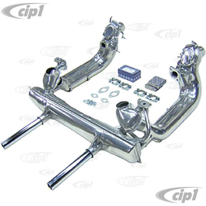 ACC-C10-6050 - DELUXE STOCK HEATER BOX AND MUFFLER KIT - CERAMIC COATED - BEETLE 66-73 / GHIA 66-73 - (A50)