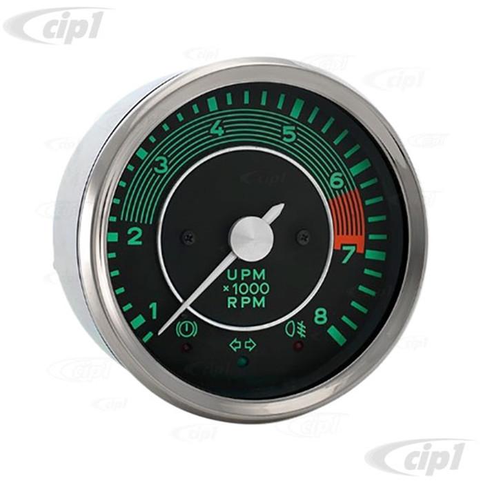 VDO-519-847 - (A2C59519847) 356 SERIES 8000 RPM TACHOMETER - (FOR ORIGINAL AND REPLICA PORSCHE 356) - SOLD EACH