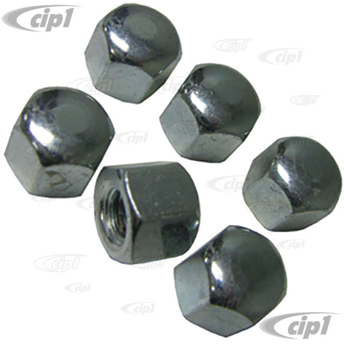 VHD-N11-0624-6 - CAP OIL DRAIN PLATE NUT - ALL 12-1600CC BEETLE STYLE ENGINES - SOLD SET OF 6 NUTS