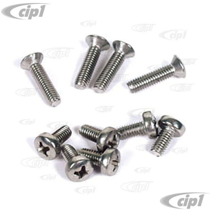 VHD-N14-1221-10 - SCREW KIT FOR POPOUT WINDOW MOUNTING PLATE 10 PCS BEETLE 53-77