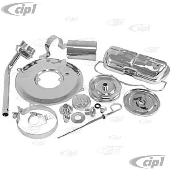 ACC-C10-6209 - CHROME ENGINE DRESS UP KIT FITS 13-1600cc BEETLE STYLE ENGINES