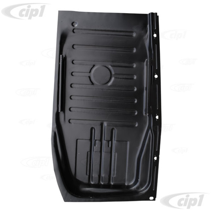 VNG-95-13-76-4 - RIGHT REAR FLOOR PAN 1/2 SECTION WITH OUTER BOLTING RAIL - BEETLE 73-79 (SEAT RAIL NOT INC.) - SOLD EACH