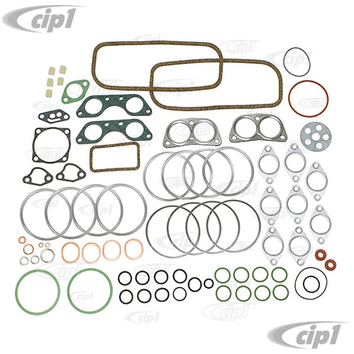 VWC-021-198-009-BCGR - (021198009B) ELRING MADE IN GERMANY - ENGINE GASKET SET WITH CASE BOLT VIBRATION DAMPERS INCLUDED - 17-2000CC (PULLEY SEAL/FLYWHEEL SEAL ARE NOT INCLUDED) BUS 72-78 - SOLD KIT