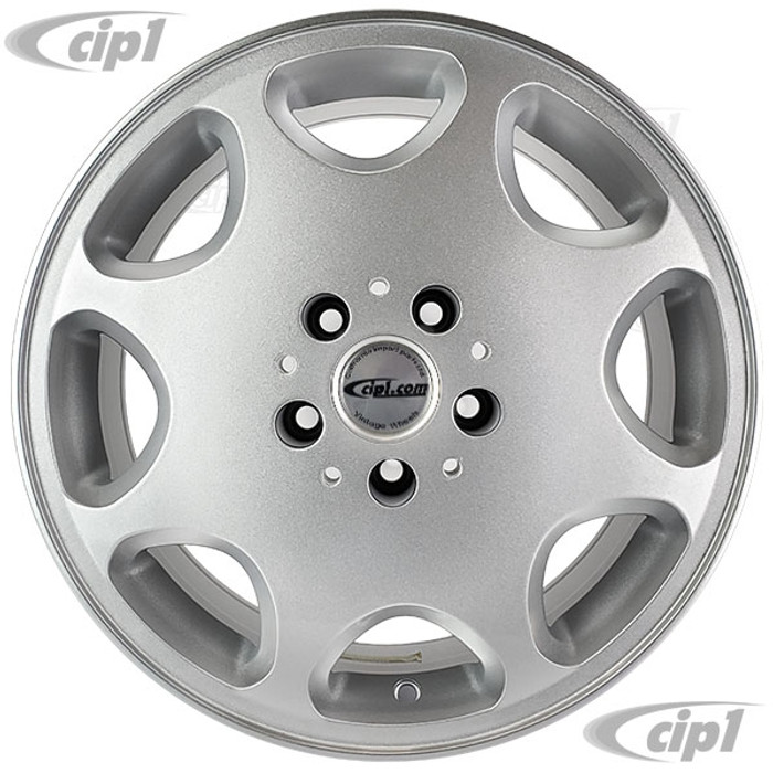 ACC-C10-6599 - SILVER 16X7.5 ALLOY WHEEL 5X112MM - DIRECT BOLT ON FOR 2WD OR 4WD BUS/VANAGON 1971-1992 - CAP AND VALVE STEM INCLUDED - HARDWARE SOLD SEPARATELY - SOLD EACH