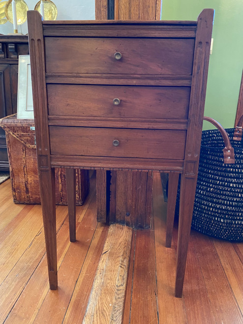 French Side Table with 3 Drawers