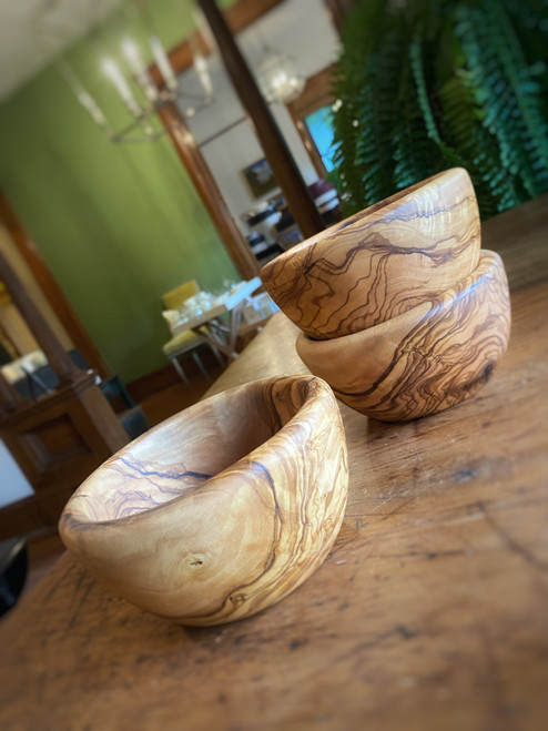 Olive Wood Small Snack Bowl