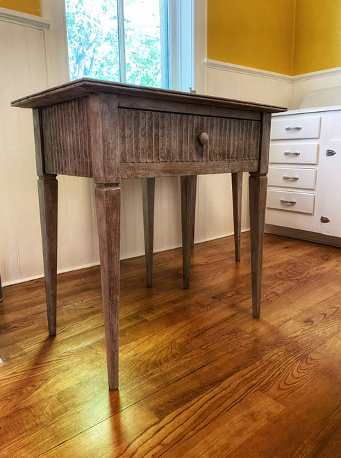 Side Table with drawer - Aged Gray