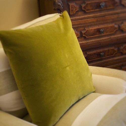 Pillow - Olive Green Velvet