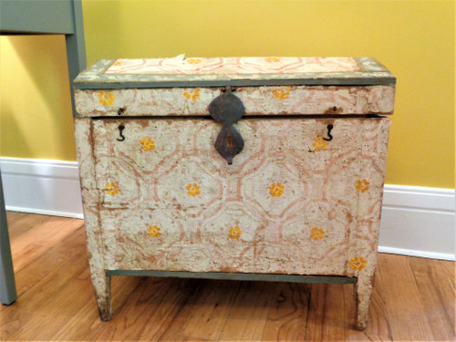 Large Papered Marriage Coffer