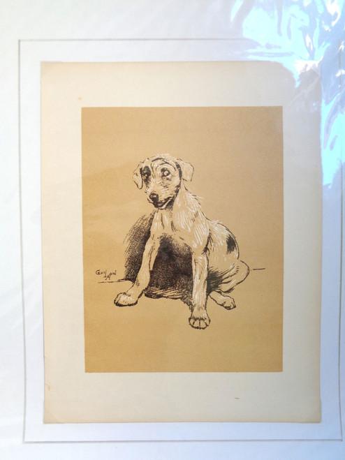 """Cecil Aldin A Dog Day Print; """"Dog Sitting"""""""