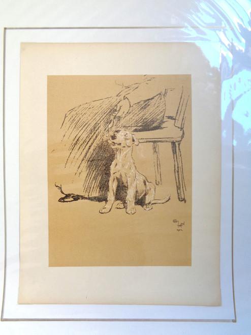 """Cecil Aldin A Dog Day Print; """"Person Feeding Dog"""""""