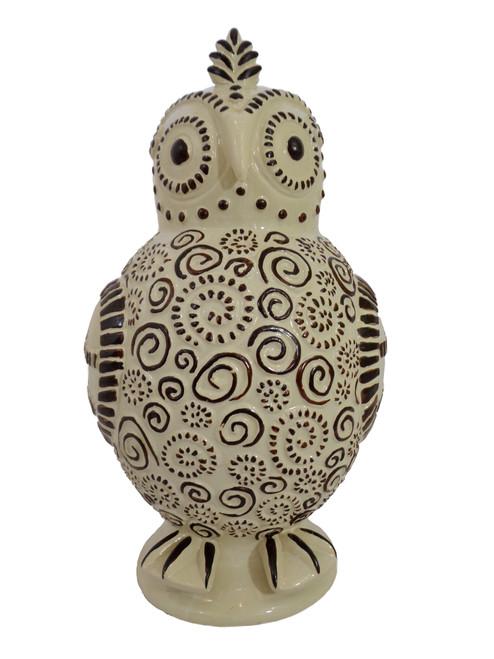 Contemporary Ceramic Owl Vessel
