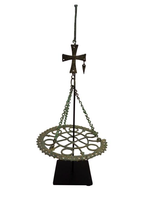 Byzantine Iron Candle Holder on Custom Stand