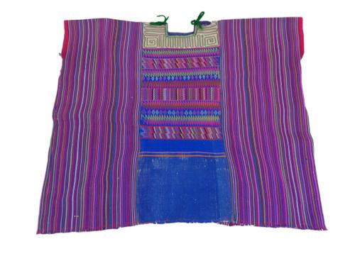 Huipil -- Blue/Purple Multi-Color