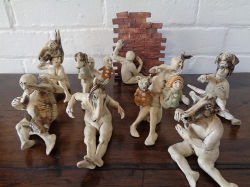 Aggie Zed -- Large Ceramic Figures