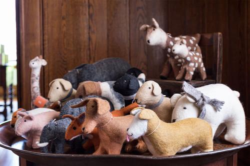 Hand Felted Stuffed Animals -- Small