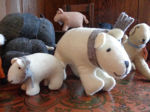Hand Felted Stuffed Animals -- Large
