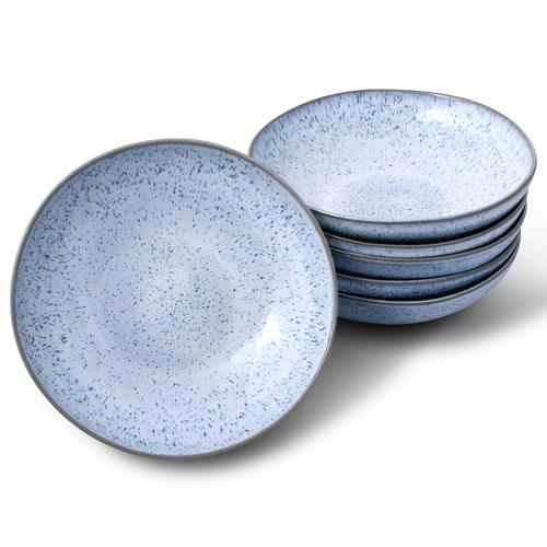 Light Blue Speckled Pasta Dish Set of 4
