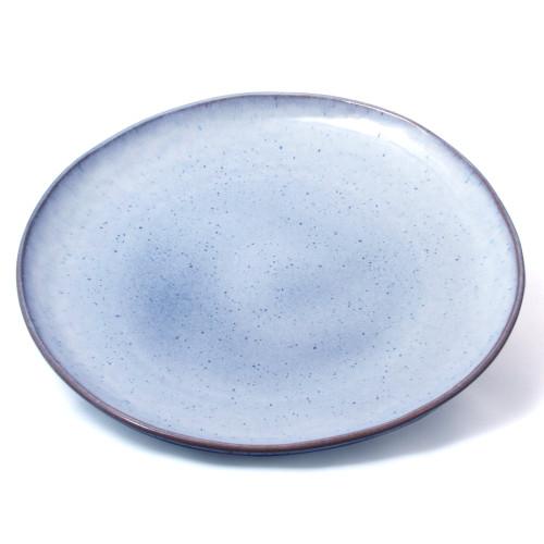 Light Blue Speckled Dessert / Small Plate Set of 4