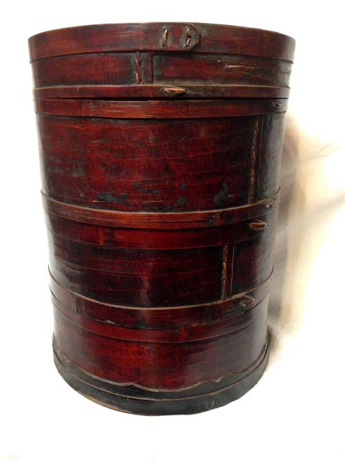 basket, 3-tier, antique
