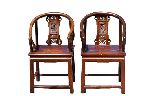 Pair 19th Century Chinese Lady's Chairs