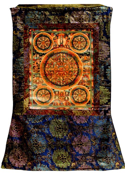 Vintage Hand Painted Tibetan Thangka Life of Buddha Tanka
