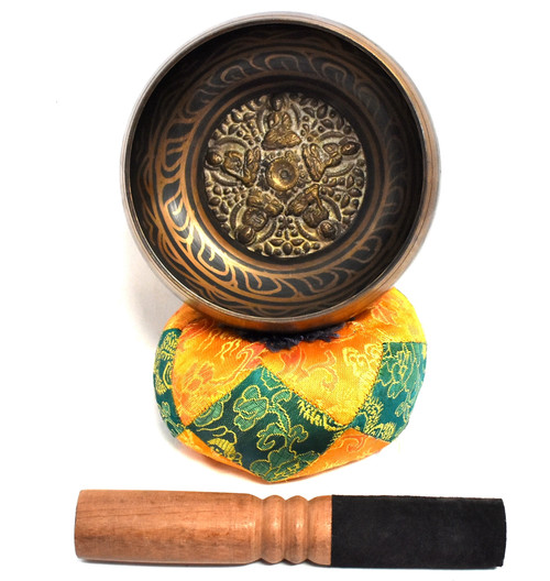 """Tibetan Singing Bowl 5.75"""" Embossed"""