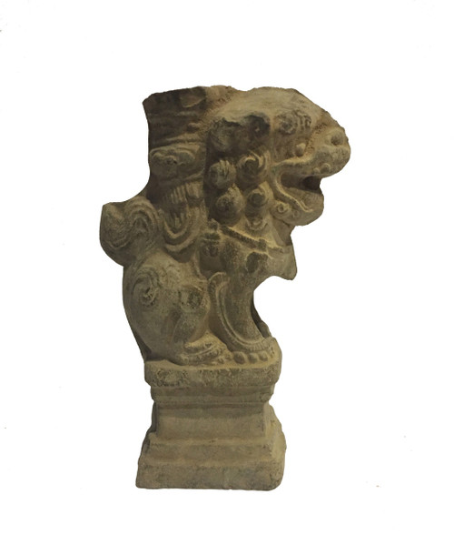 foo dogs, stone, candle holder