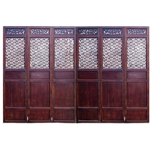 Antique Screen Set of 6