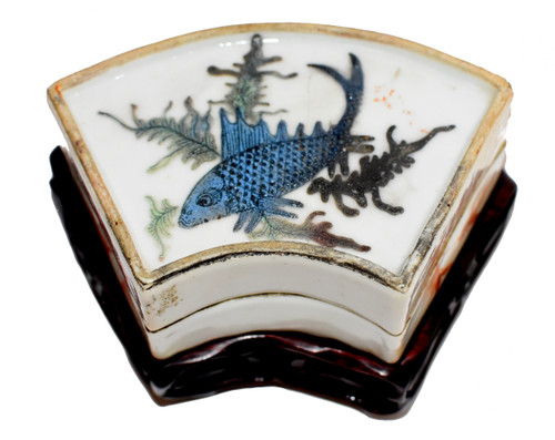 Republic Era Porcelain Box Hand Painted