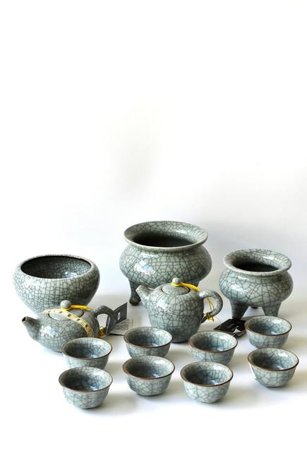 celadon porcelain set of 13